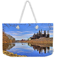 Reflection On The Lehigh - Bethlehem Pa Weekender Tote Bag