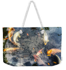 Reflections And Fish 3 Weekender Tote Bag by Isabella F Abbie Shores FRSA
