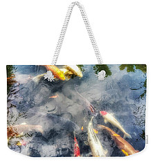 Reflections And Fish 4 Weekender Tote Bag by Isabella F Abbie Shores FRSA