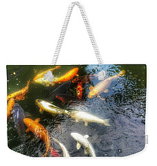 Reflections And Fish 5 Weekender Tote Bag by Isabella F Abbie Shores FRSA