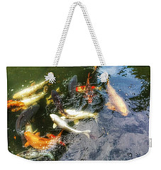 Reflections And Fish 6 Weekender Tote Bag by Isabella F Abbie Shores FRSA