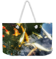 Reflections And Fish 7 Weekender Tote Bag by Isabella F Abbie Shores FRSA
