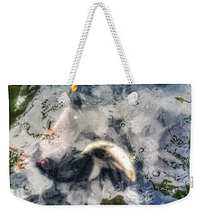Reflections And Fish 8 Weekender Tote Bag by Isabella F Abbie Shores FRSA