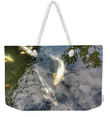 Reflections And Fish 9 Weekender Tote Bag by Isabella F Abbie Shores FRSA
