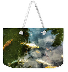 Reflections And Fish  Weekender Tote Bag by Isabella F Abbie Shores FRSA