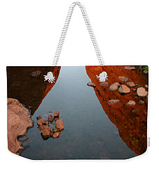 Weekender Tote Bag featuring the photograph Reflections At Kata Tjuta In The Northern Territory by Keiran Lusk