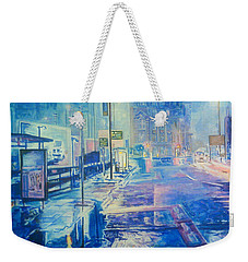 Reflections At Night In Manchester Weekender Tote Bag