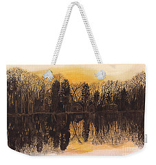 Reflections At Sunset On Bitely Lake Weekender Tote Bag