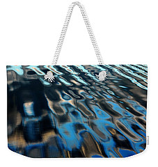 Weekender Tote Bag featuring the photograph Reflections From A Dock by Debbie Oppermann
