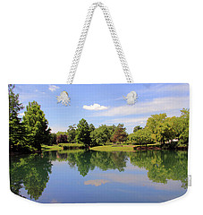 Reflections In A Pond Weekender Tote Bag by Angela Murdock