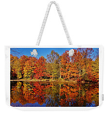 Reflections In Autumn Weekender Tote Bag by Ed Sweeney