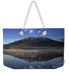 Reflections In The Loch Weekender Tote Bag by Lynn Bolt