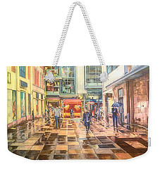 Reflections In The Pavement, Brown Street, Manchester Weekender Tote Bag