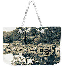 Weekender Tote Bag featuring the photograph Reflections by Karen Stahlros