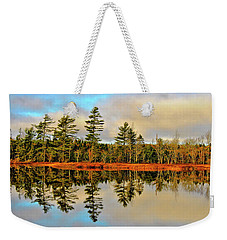 Weekender Tote Bag featuring the photograph Reflections by Kathleen Sartoris