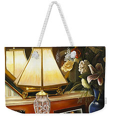 Weekender Tote Bag featuring the painting Reflections by Marlene Book