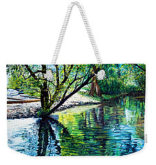 Trees Reflections Weekender Tote Bag