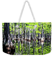 Reflections Of A Cypress Forest Weekender Tote Bag by Tara Potts