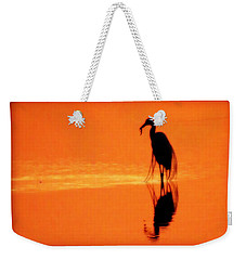 Reflections Of A Heron Weekender Tote Bag