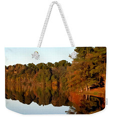 Weekender Tote Bag featuring the painting Reflections Of A Pennsylvania Autumn by David Dehner