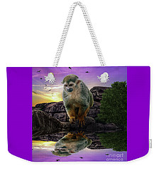 Reflections Of A Squirrel Monkey Weekender Tote Bag by Rob Sellers