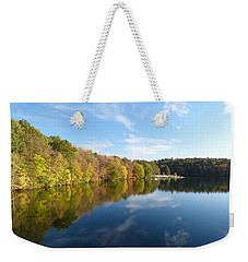 Reflections Of Autumn Weekender Tote Bag by Donald C Morgan