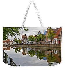 Reflections Of Brugge Weekender Tote Bag