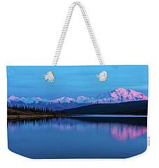 Sunset Reflections Of Denali In Wonder Lake Weekender Tote Bag