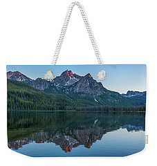 Reflections Of Elk Mountain Weekender Tote Bag by Brenda Jacobs