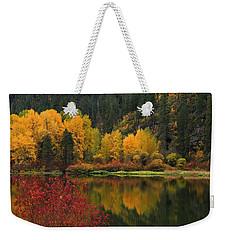 Reflections Of Fall Beauty 2 Weekender Tote Bag by Lynn Hopwood