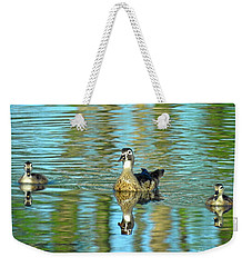 Reflections Of Family Swim Lessons Weekender Tote Bag