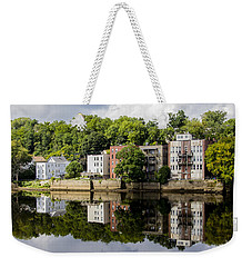 Reflections Of Haverhill On The Merrimack River Weekender Tote Bag