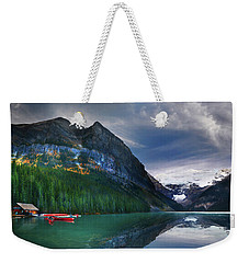 Weekender Tote Bag featuring the photograph Reflections Of by John Poon