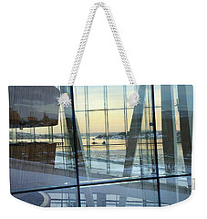 Weekender Tote Bag featuring the photograph Reflections Of Oslo by David Chandler