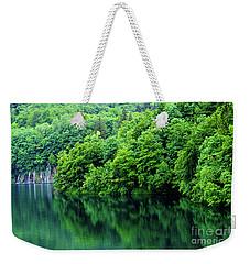 Reflections Of Plitvice, Plitvice Lakes National Park, Croatia Weekender Tote Bag