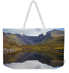 Weekender Tote Bag featuring the photograph Reflections Of The Macgillycuddy's Reeks In Lough Eagher by Semmick Photo