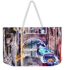 Reflections Of Venice Weekender Tote Bag by Shirley Stalter