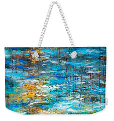 Weekender Tote Bag featuring the painting Reflections Of Water by Linda Olsen