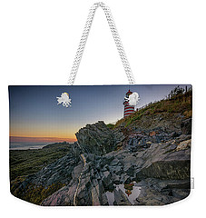 Weekender Tote Bag featuring the photograph Reflections Of West Quoddy Head by Rick Berk