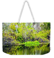 Weekender Tote Bag featuring the photograph Reflections On A Beautiful Day by Madeline Ellis