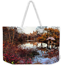 Weekender Tote Bag featuring the photograph Reflections On A Winter Day - Central Park by Madeline Ellis