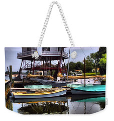 Reflections On Golden Creek Weekender Tote Bag by Robert McCubbin