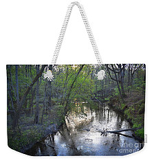 Weekender Tote Bag featuring the photograph Reflections On The Congaree Creek by Skip Willits