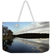 Weekender Tote Bag featuring the photograph Reflections On The Lake by Chris Berry