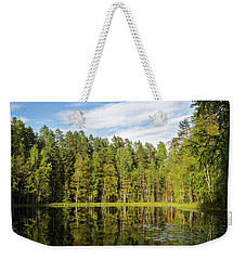 Reflections On The Pond Of Itko Weekender Tote Bag