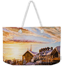 Reflections On The Snow Weekender Tote Bag