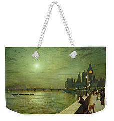 Reflections On The Thames Weekender Tote Bag by John Atkinson Grimshaw