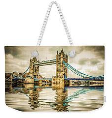 Reflections On Tower Bridge Weekender Tote Bag