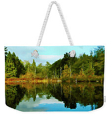 Weekender Tote Bag featuring the digital art Reflections by Timothy Hack