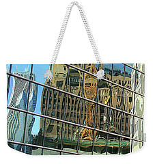 Reflective Chicago Weekender Tote Bag